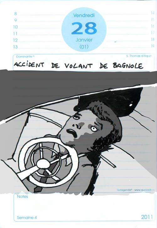 accident de volant de bagnole